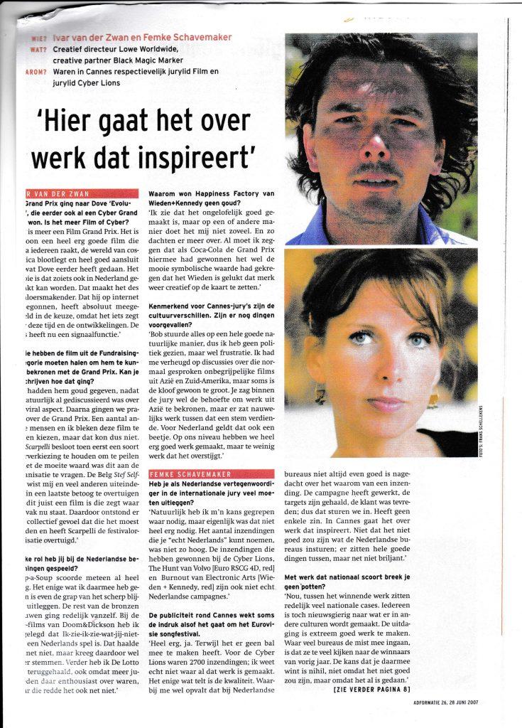 Interview met Ivar vd Zwan