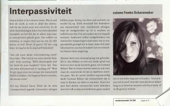 Column in Reclameweek, 3 juli 2006