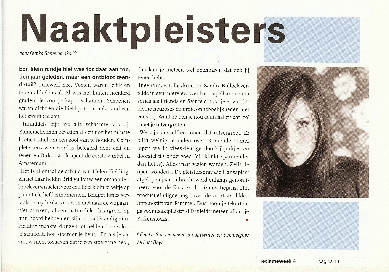 Column in Reclameweek, juni 2005