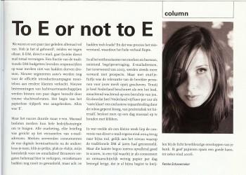 Column in Reclameweek, 7 augustus 2006